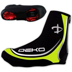 DEKO Waterproof Neoprene Cycling Shoe Covers Bike Cycle Overshoes Mens FL.Yellow