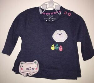 Baby Girls Age Up To One Month (10lbs) Long Sleeved Top