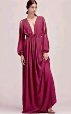275dc24106 FREE PEOPLE Studded Crepe Maxi Dress Deep V Neckline Size XS  300 EXQUISITE