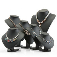 Leather Jewelry Mannequin Necklace Pendant Neck Model Prop Display Stand Holder