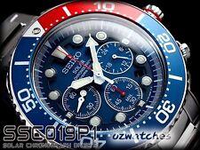 SEIKO PROSPEX SOLAR CHRONOGRAPH DIVER 200M SSC019P SSC019P1 BLUE wORIGINAL BOX