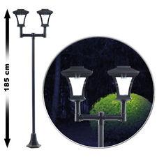 2-flammige Solar-LED-Gartenlaterne, SWL-25, 0,36 W, 24 lm, 185 cm hoch