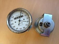Royal ENFIELD Smiths Speedo Meter 0-120 MPH With White Face