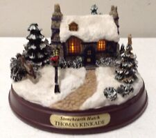 "Thomas Kinkade ""Stonehearth Hutch"" Battery Lighted Cottage/House"