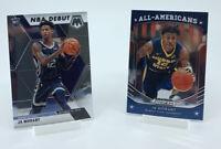 2 Card Lot 2019 Panini Ja Morant Mosaic Base NBA Debut + All American Rookie RC