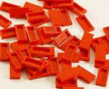 15x Lego® 3069b 1x2 Fliesen rot Tiles red Bausteine Pieces Parts NEU NEW Fire
