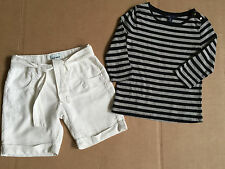 Girl Everyday Fall Outfit Gap Top & Linen Old Navy Long Shorts 8-10