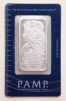 1 oz Pamp Suisse Lady Fortuna .999 Fine Silver Bar Classic Design In Assay