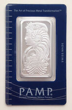 1 Troy oz Pamp Suisse Lady Fortuna .999 Fine Silver Bar In Assay