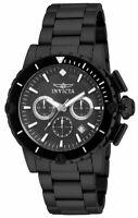 Invicta Men's Pro Diver Quartz Chrono 100m Black Stainless Steel Watch 15404