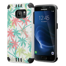 Hybrid Dual Layer Armor Case for Samsung Galaxy S7 - Summer Palm Tree
