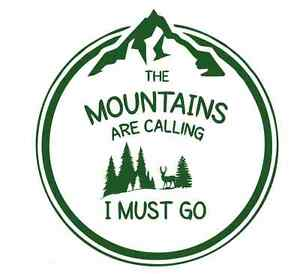 Mountains are Calling  Forest 975 - Vinyl Sticker / Stencil - Made to Order