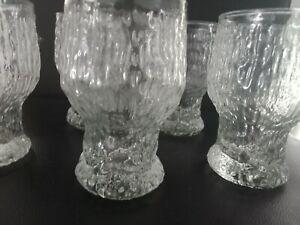 Vintage  Scandinavian Glasses LITTALIA  Goblets 5 Vintage