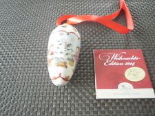 """Hutschenreuther Weihnachtszapfen  2014 """"  Im Winterwald """"  Neu OVP"""