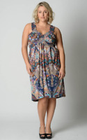 Autograph Ladies Mid Length Summer Dress sizes 16 18 20 22 24 Multi Print