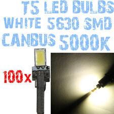 N° 100 Bulbo LED T5 CANBUS 5000K SMD 5630 Faróis Angel Eyes DEPO FK 12v 1A6A 1A6
