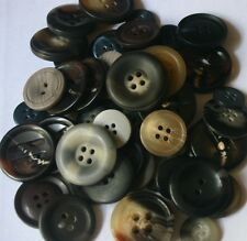 50 Vintage Colour Resin Buttons - Sewing, Craft, Scrapbooking