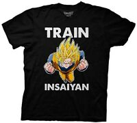Dragonball Z Goku Train Insaiyan Dragon Ball Licensed Adult Graphic Tee Shirt