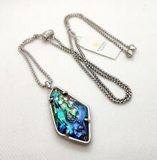 Kendra Scott Lilith Long Pendant Necklace in Abalone Shell