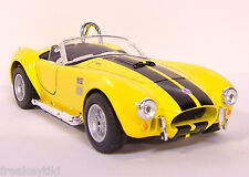 YELLOW 1965 '65 SHELBY COBRA 427 S/C Vehicle Diecast 1/32 Pull Back Sportscar