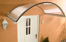 Alu Haustürvordach Rondo weiß 158 x 90 cm mit 4,5 mm PC Stegplatten Eindeckung