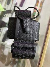 Boston Leather Duty Belt Super Adjustable Radio Holder Fits Most Radios 5610 3