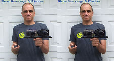 12 in Twin camera bar w/sliding platforms - lightweight - 3d stereo photography