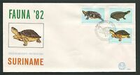 SURINAME FDC 1982 SCHILDKRÖTE SCHILDKRÖTEN TURTLE TURTLES TORTUES TORTOISE d8701