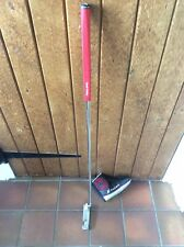 """Odyssey Black Series 1 R/hand 35"""" With Cover Red Golf Pride Grip Good Club"""