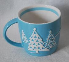 Starbucks coffee mug 2007 blue Penguin Snowflakes snowy trees Winter