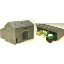 Metcalfe PO251 - Manor Farm Barn Buildings - Die Cut Card Kit 00 Gauge 1st Post