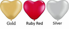 Heart Shape Balloon12cm 3 for $1 Silver, Ruby or Golden Wedding Anniversary