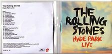 "The Rolling Stones ""Hyde Park Live"" 19 Track Promo Acetate 2 CD + stampa Sheet"
