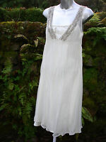 NEW WITH TAGS- IVORY DRESS BY NAFNAF SIZE 12  (40)