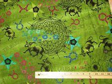 Taurus New Dawn Horoscope Zodiac Astrology Fabric by the 1/2 Yard  #112-11561