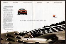 1989 AUDI 90 Quattro Vintage Original 2 page Print AD - Red car photo Canada FR