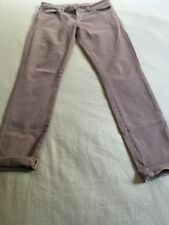 New Guess Brittney Mauve Pink Skinny Ankle Jeans 30
