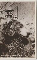 KODIAK AK World's Record Kodiak Bear c1948  REAL PHOTO POSTCARD Kodiak Alaska