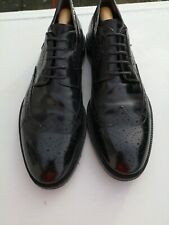 PAL ZILERI Mens 100% Leather Black Lace-up Brogues UK 10 (44).