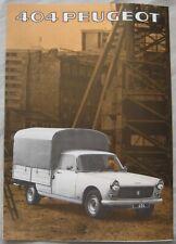 1978 Peugeot 404 Brochure