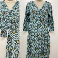 NEW RRP £39 Ex White Stuff Morie Dress In Algae Green Print