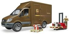 Bruder Toys MB Sprinter UPS Van with Driver and Accessories 02538 Kids Play NEW