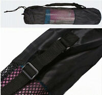 1Portable Yoga Pilates Mat Nylon Bag Carrier Mesh Center Adjustable Strap Totes