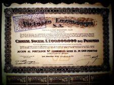 Victorio Luzuriaga  SA Spain Share certificate 1975