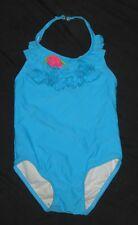 Toddler Girls CIRCO Turquoise Ruffled Bathing Swim Suit - size 2T