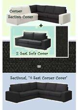 """IKEA Kivik""""Sectional,4-Seat""""2-Seat Sofa Corner Section Cover Dark Gray Dansbo"""