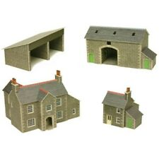 Metcalfe PN150 Stone Manor Farm Buildings Set Die Cut Card Kit N Gauge