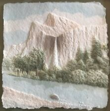 Cast Paper signed WESS Wesley Smith Art Yosemite National Monument Wall Hanging