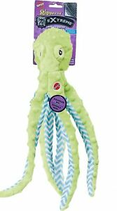 Spot Ethical Extreme Skinneeez Squeaker Green Octopus Dog Toy 16 Inch Squeakers