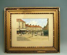 Gustav Benesch Aquarell  Platte Passepertout Ansicht Wien Marktstand sign.  1860